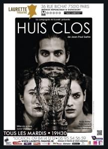 affiche HUIS CLOS, cie art Scenik'